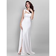 Prom / Formal Evening / Military Ball Dress - Plus Size / Petite Sheath/Column Straps Floor-length Jersey