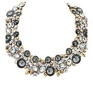 style européen rétro collier de pierres précieuses (plus de couleurs)