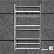 70W Towel Warmer 304# Stainless Steel Mirror Polished Drying Rack Wall Mount