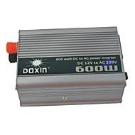 carking ™ universal zink legering 600W DC 12V til AC 220v inverter med bil - sølv