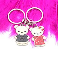 personlig nyckelring - Tang passar björn (sats om 6 par)