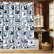 vina® Marilyn Monroe bain rideau de douche imperméable à l'eau avec 12 crochets