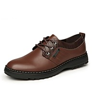 Men's Shoes Office & Career/Casual Calf Hair Oxfords Black/Brown