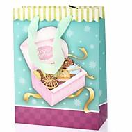생일 컵 케이크 패턴 선물 가방 호의 홀더
