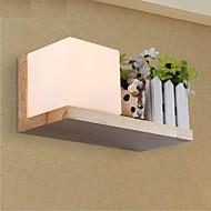 lampe murale en chêne, une lumière, chêne et verre, 220 ~ 240V (jy945l)