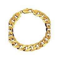 Herrn Ketten- & Glieder-Armbänder Gold Kupfer vergoldet Aleación Golden Schmuck Für Normal Weihnachts Geschenke 1 Stück
