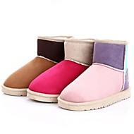 damesko rund tå flad hæl ankelstøvler flere farver