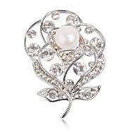 Women's Fashion Luxury White Beaded Flower  Brooches Women Accessories