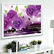 DIY Wandbehänge Wanddekor, fantacy lila romantische 3d Harz Diamant Leinwand, Malerei, Kunst-Wand-Dekor