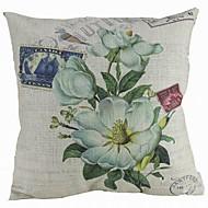 Coton/Lin Housse de coussin , Floral Moderne/Contemporain