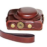 pajiatu® cámara piel aceite de cuero cubierta de la bolsa protectora caso retro de la PU para sony dcs-rx100ii m2 / RX100 iii m3