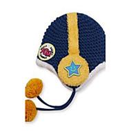 Dětské módní krásné teplé karikatura sluchátka děti pletené čepice