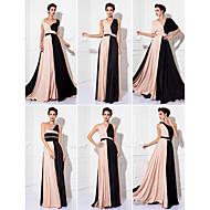 Formal Evening/Prom/Military Ball Dress Plus Sizes Sheath/Column Floor-length Knit