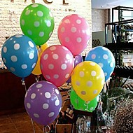 kleurrijke ballon met witte stip - set van 10 (meer kleuren)