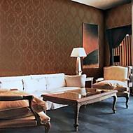behang wandbekleding, Europese stijl klassieke stereoscopische patroon pvc behang