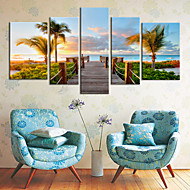 Stretched Canvas Art Coastal Views Scenery Set of 5