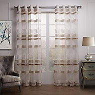 AnTi™ Classic Article Striped Sheer CurtainTwo Panels