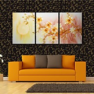 Stretched Canvas Art The Plum Flower Open Under The Moon Decoration  Set of 3
