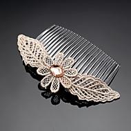 Dame/Blomsterpige Blonde/Kvadratisk Zirconium Medaljon Bryllup/Speciel Lejlighed/Udendørs Hårkamme/BlomsterBryllup/Speciel