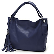 Women PU Barrel Shoulder Bag / Tote - Blue / Red / Black / Khaki