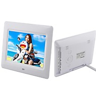 7-inch  LCD Loop Playback Digital Photo Frame with Remote Control Music Video (White and Black)
