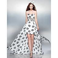 Cocktail Party / Prom Dress - Print Plus Sizes / Petite Sheath/Column Sweetheart Court Train Chiffon