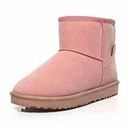 Women's Spring / Fall / Winter Snow Boots Leatherette Office & Career / Casual Flat Heel Black / Brown / Pink / Burgundy