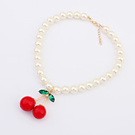 Lucky Star Women's Imitation pearls Strawberry Necklace