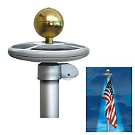 20-LED Solar Powered Garden Decor Light Top Flag Pole Flagpole Landscape Light