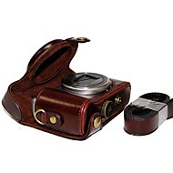 couro dengpin® câmera capa protetora bolsa caso com alça de ombro para Sony DSC-hx50v HX60 HX50 HX30 HX10 LCJ-HN