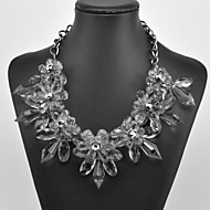 Women's Crystal Flower Pattern Necklace