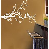 galho de árvore e as aves amante adesivo de parede parede decalque jiubai ™