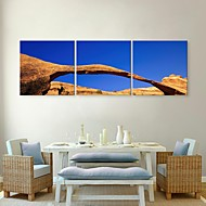 Stretched Canvas Art The Sky And Rock  Decorative Painting Set of 3