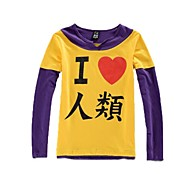 Inspired by No Game No Life Cosplay Anime Cosplay Costumes Cosplay Hoodies Print Yellow / Purple Long Sleeve T-shirt