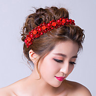 Women's Alloy / Cubic Zirconia Headpiece-Wedding / Special Occasion Flowers / Wreaths Red