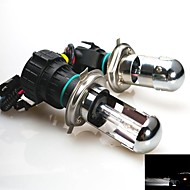 55W 12V  H4 6000K Xenon Hi/Lo Beam HID Replacement Bulbs For Headlight