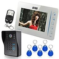 """SYSD 7"""" Video Door Phone Doorbell Intercom System Compatible RFID Keyfobs CCTV cameras"""