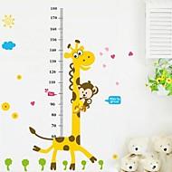 Lovely PVC Giraffe Height Wall Sticks