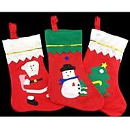 karácsonyfa dekoráció harisnya zokni candy táska 35 * 25cm véletlenszerű mintát