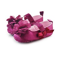 Girl's Flats Spring / Summer / Fall Crib Shoes Stretch Satin Casual / Party & Evening Flower / Magic Tape Pink / Purple / Red / White