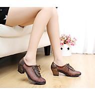 Latin Women's Sandals Low Heel Paillette Dance Shoes (More Colors)