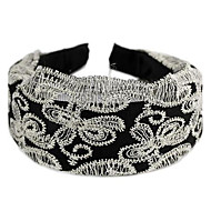 Ultra Wide-Brimmed With Butterfly Lace Hair Bands Black(1Pc)