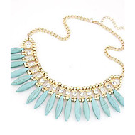 European and American Fashion Metal Exaggerated Drop Bohemian Temperament Short Necklace(More Colors)
