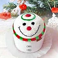 presente de aniversário do boneco de neve do Natal da forma fibra toalha criativo (cor aleatória)