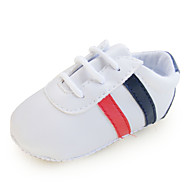 Boy's Flats Spring / Fall First Walkers / Crib Shoes Synthetic Casual Flat Heel Split Joint White