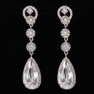 Drop Earrings Women's Platinum Earring Rhinestone