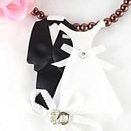 Kuchendeckel die Braut und Bräutigam Kleid Kuchendeckel (Satz von vier)