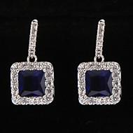 Drop Earrings Women's Platinum Earring Rhinestone