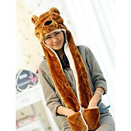 Unisex Long Section  Cute Brown Bear  Warm Fuzzy Kigurumi Aminal Beanie