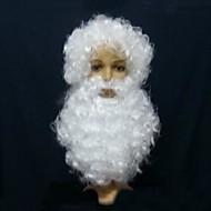 karácsony fehér paróka, szakáll